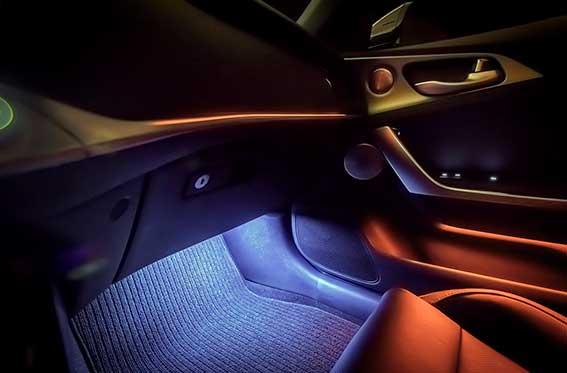 luces led en auto deportivo kia