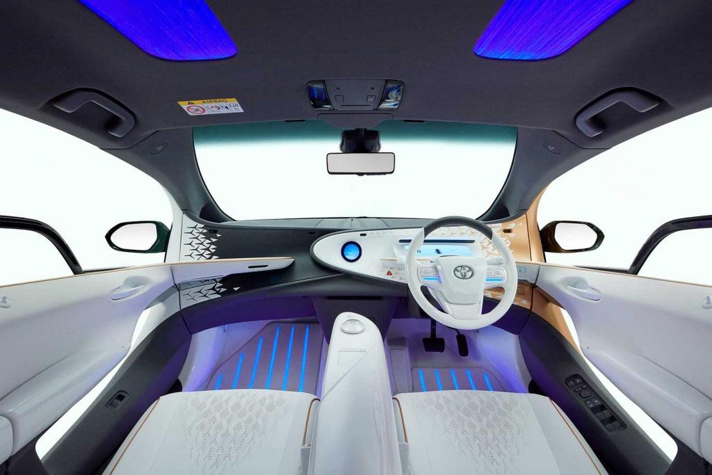 interior de auto del futuro