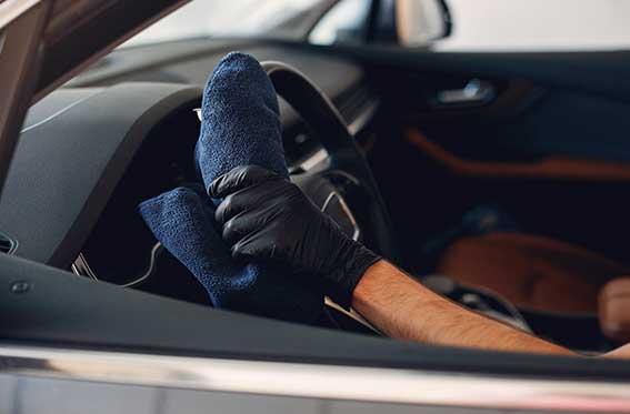 limpiar el interior del carro