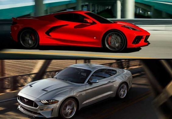 corvette c8 vs shelby gt500 2020