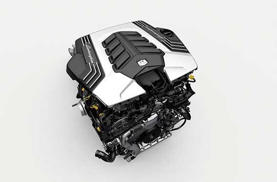 motor v8 bi-turbo lamborghini