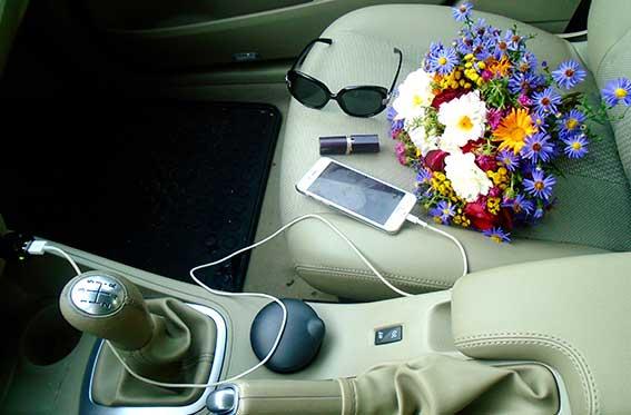 articulos dentro de auto a la vista