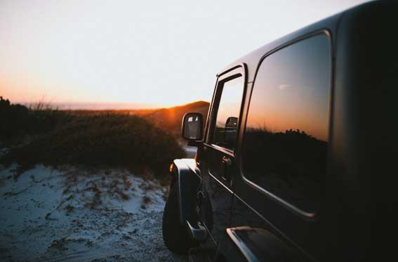 vidrio polarizado en jeep