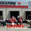 Llantas Bridgestone México renueva neumáticos de ambulancias