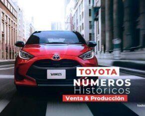Números históricos de Toyota